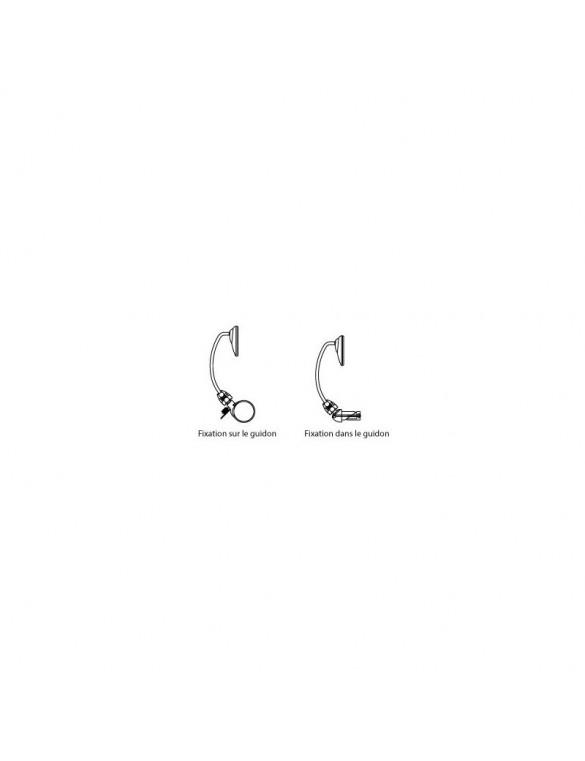Retroviseur trottinette / cycle Star 60mm sans tige (S)